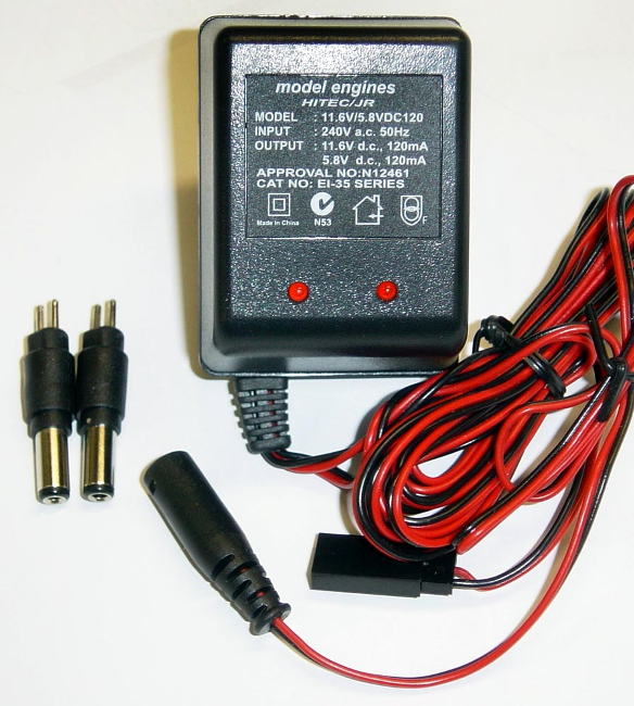RX/TX WALL CHARGER TO SUIT HITEC.JR AND FUTABA