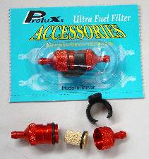 PROLUX 1581 ANODISED RED FUEL FILTERS