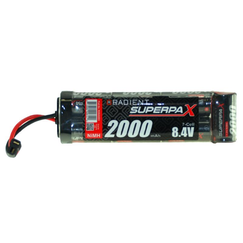RADIENT SUPERPAX NIMH BATTERY SC 8.4V 7-CELL 2000MAH 6-1 STICK P