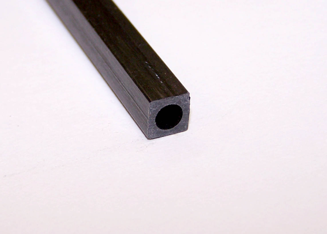 Carbon Square Round Tube 6.0mm x 6.0mm x1mt