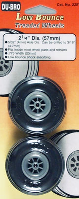 "Dubro Low Bounce Threaded Wheels 2-1/2"":1pair"