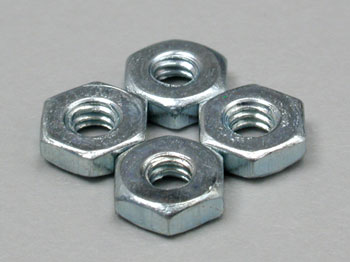 Dubro 560, 2-56 Steel Hex Nuts