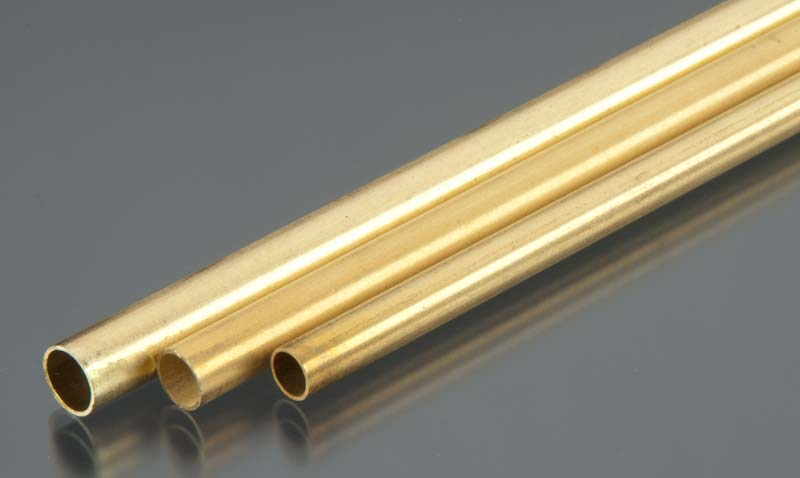 "K&S Round Brass Tube 12mm x 1.0mt""x 1pc"