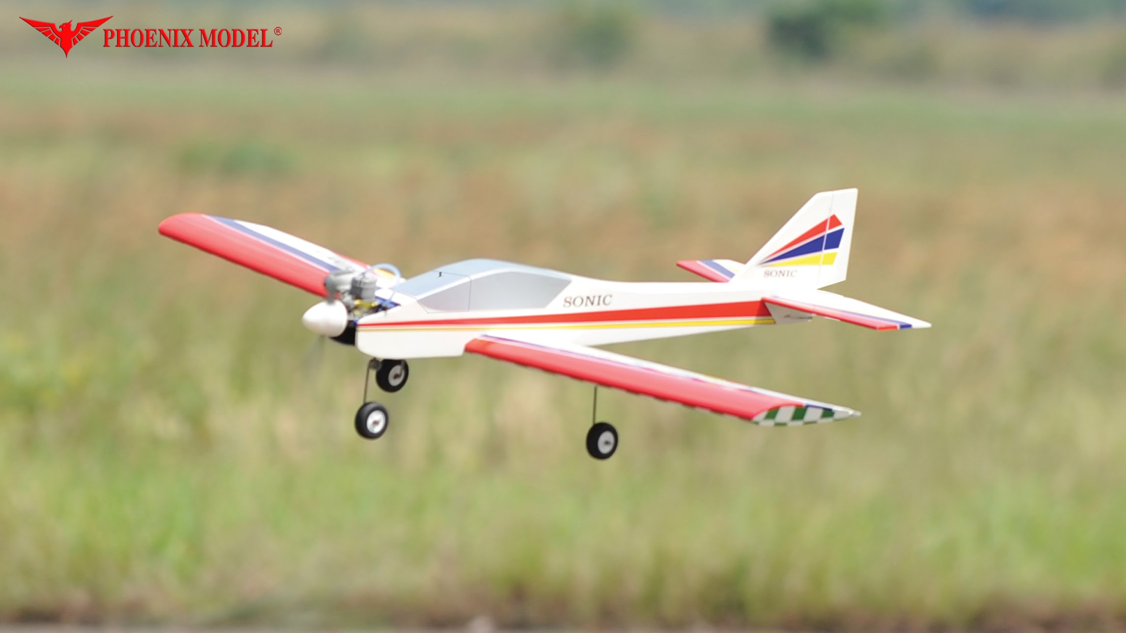 (PH125) PHOENIX SONIC LOW WING SPORTS PLANE FOR .25 - .32 SIZE E