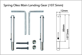 Phoenix Oleo Main Landing Gear. 107.5mm