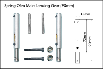 Phoenix Oleo Main Landing Gear. 90mm